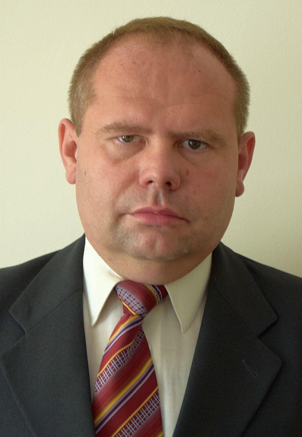 Na zdjęciu zastępca dyrektora Wydziału Infrastruktury, pan Sylwester Janyszko